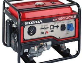 Honda EM 5500 S önindítós  benzin motoros áramfejlesztő